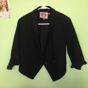 Juicy Couture Cropped Black Blazer